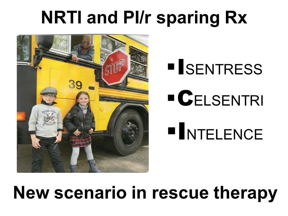 NRTI and PI/r sparing Rx  I SENTRESS  C ELSENTRI  I NTELENCE New scenario in rescue therapy