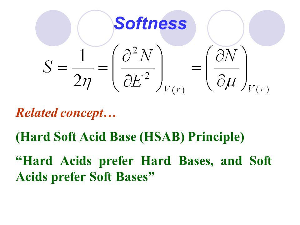 "Softness Related concept… (Hard Soft Acid Base (HSAB) Principle) ""Hard Acids prefer Hard Bases, and Soft Acids prefer Soft Bases"""
