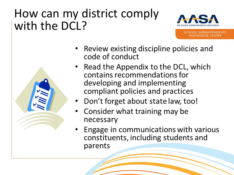 How can my district comply with the DCL.
