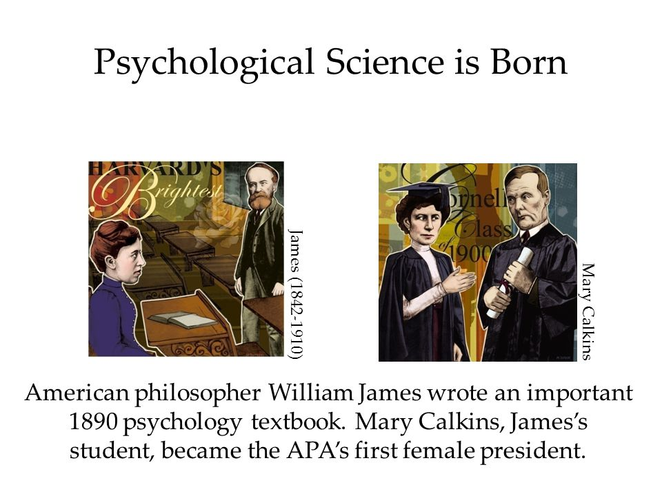 Psychological Science is Born American philosopher William James wrote an important 1890 psychology textbook.