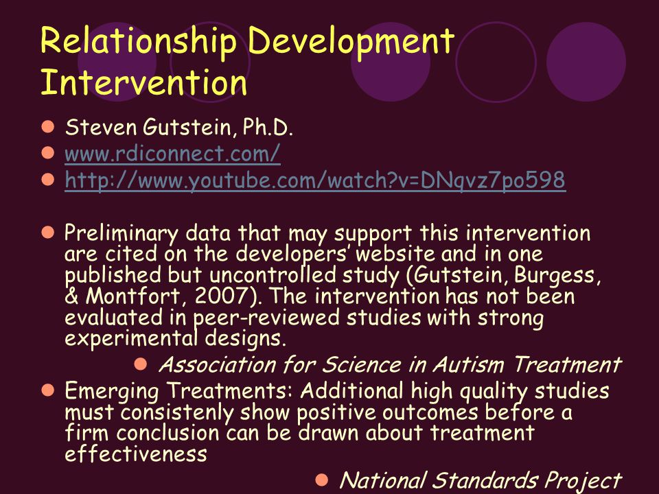 Relationship Development Intervention Steven Gutstein, Ph.D.