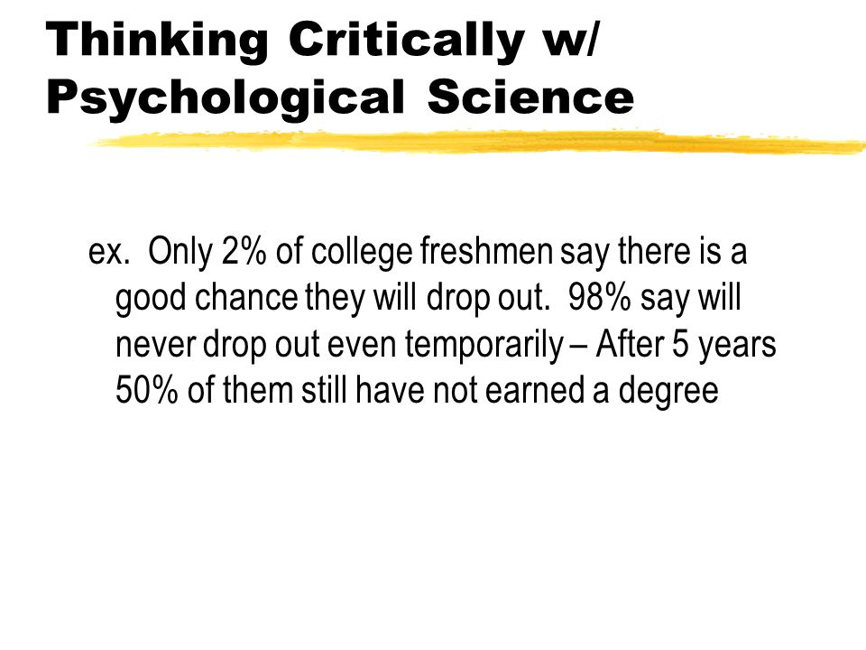 Thinking Critically w/ Psychological Science ex.