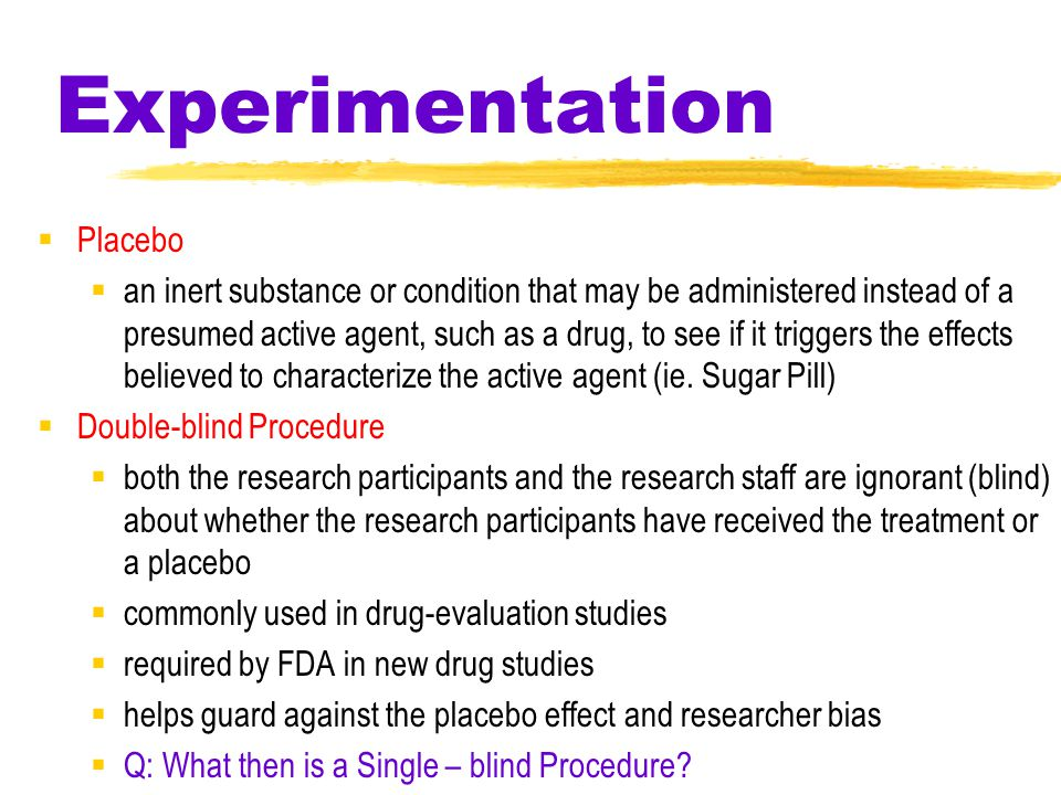 47 Experimentation A summary of steps during experimentation.