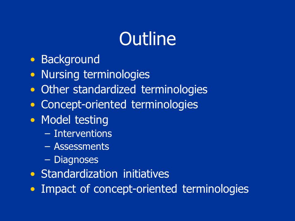 Optimized for Computer Processing Processing on meaning (semantics) rather than structure (syntax) NOC - Knowledge: Breastfeeding Has component NOC.KNOWLEDGE:BREASTFEEDING Has property IMPRESSION Has sample PATIENT/CLIENT Has timing POINT Has scale ORDINAL Has method OBSERVED IS-A KNOWLEDGE MEASUREMENT IS-A BREASTFEEDING MEASUREMENT