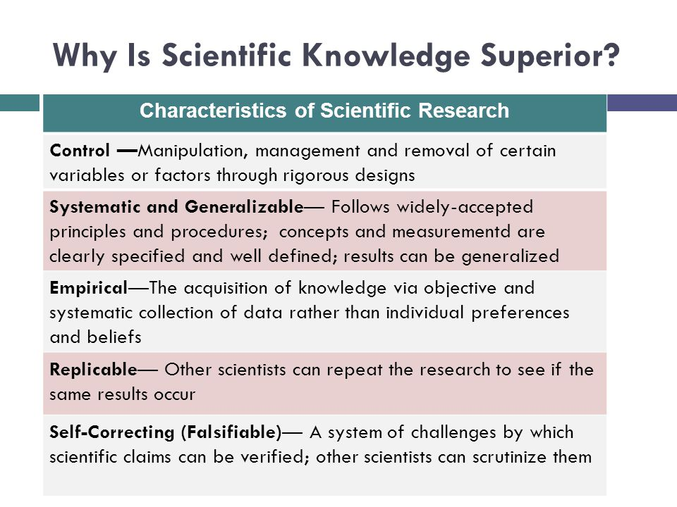 Why Is Scientific Knowledge Superior.