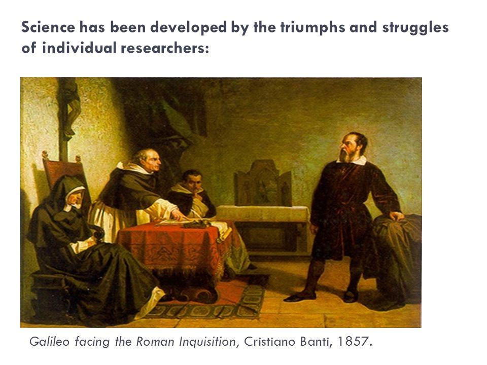 Galileo facing the Roman Inquisition, Cristiano Banti, 1857.