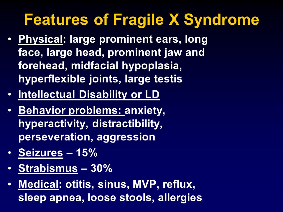The Fragile X Mouse (Knockout; K/O) fmr1 gene inactivated No active FMRP Subtle cognitive problems Audiogenic seizures Good neurobiological model to answer question: WHAT DOES FMRP DO?