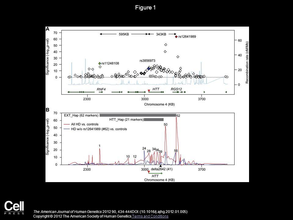 Figure 1 The American Journal of Human Genetics 2012 90, 434-444DOI: (10.1016/j.ajhg.2012.01.005) Copyright © 2012 The American Society of Human Genetics Terms and Conditions Terms and Conditions