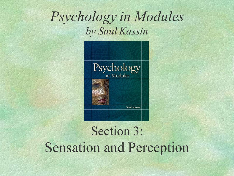 Section 3: Sensation and Perception Psychology in Modules by Saul Kassin