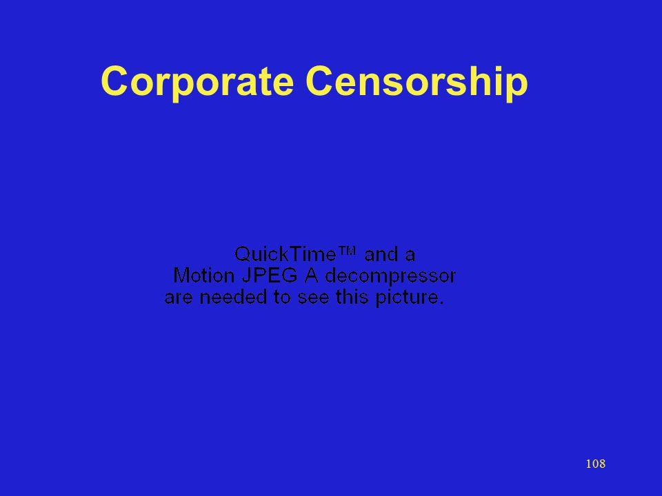 108 Corporate Censorship