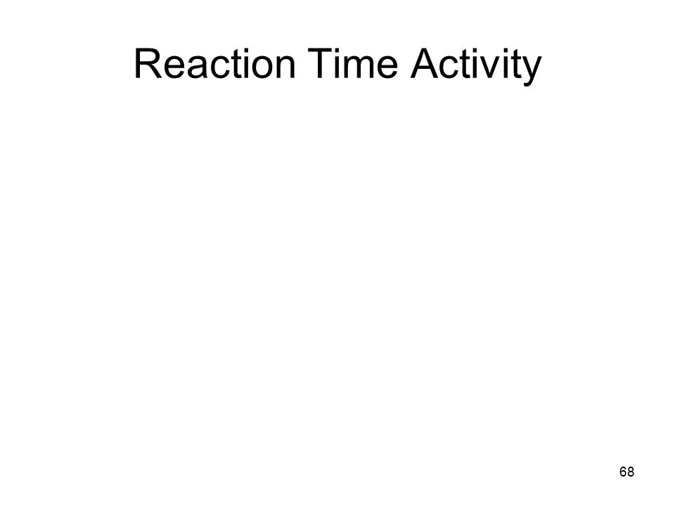 68 Reaction Time Activity