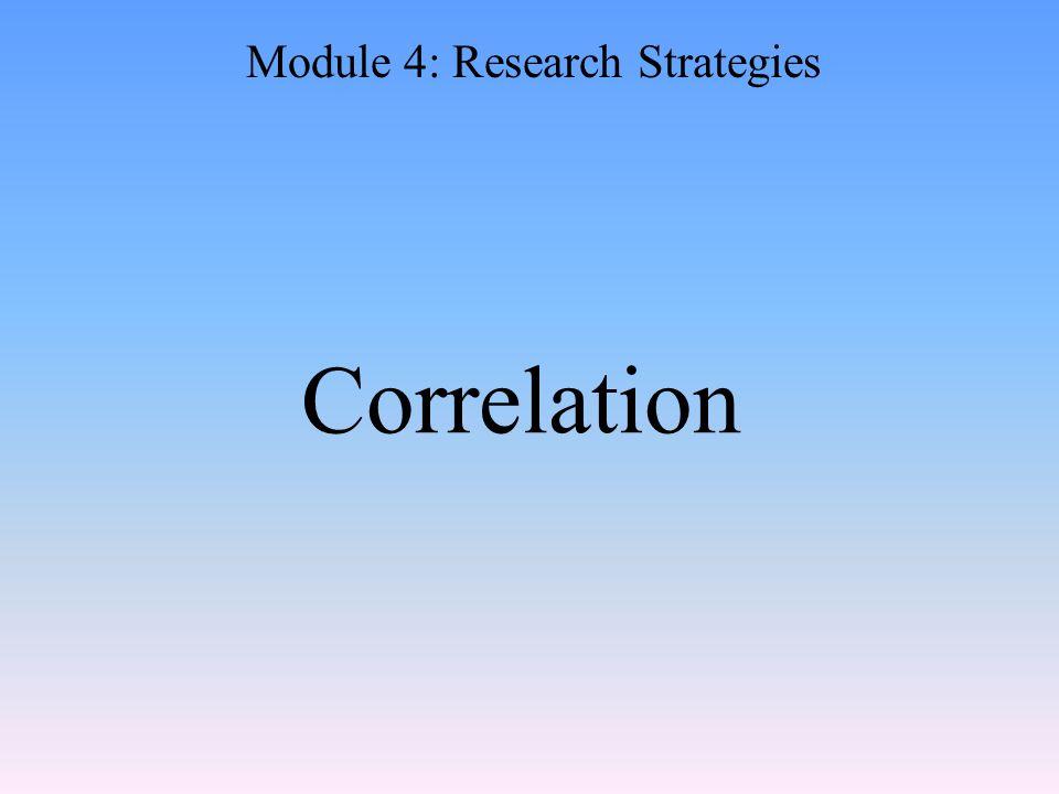 Correlation Module 4: Research Strategies
