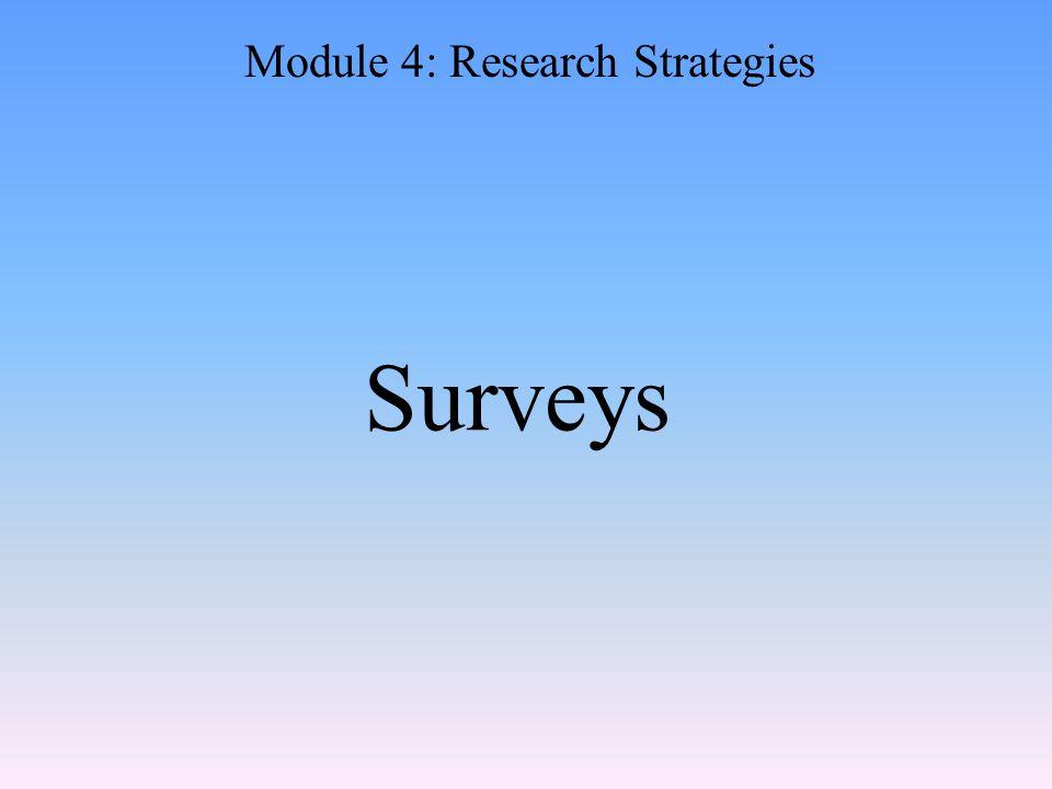 Surveys Module 4: Research Strategies