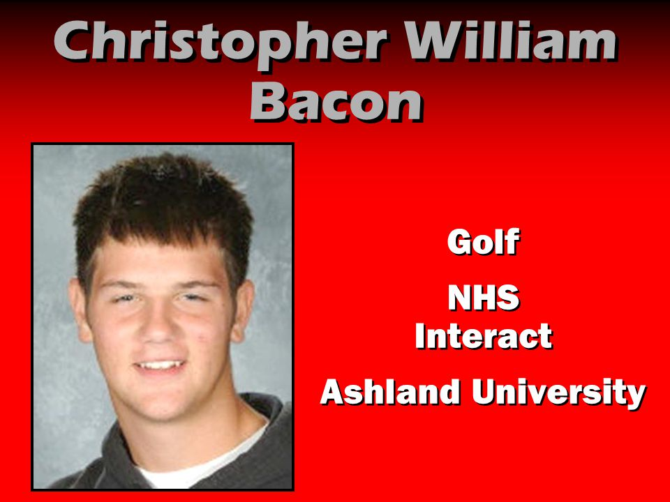 Christopher William Bacon Golf NHS Interact Ashland University Golf NHS Interact Ashland University
