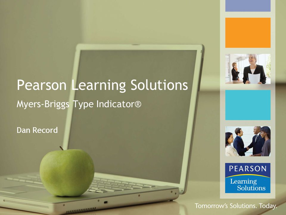 Pearson Learning Solutions Myers-Briggs Type Indicator® Dan Record