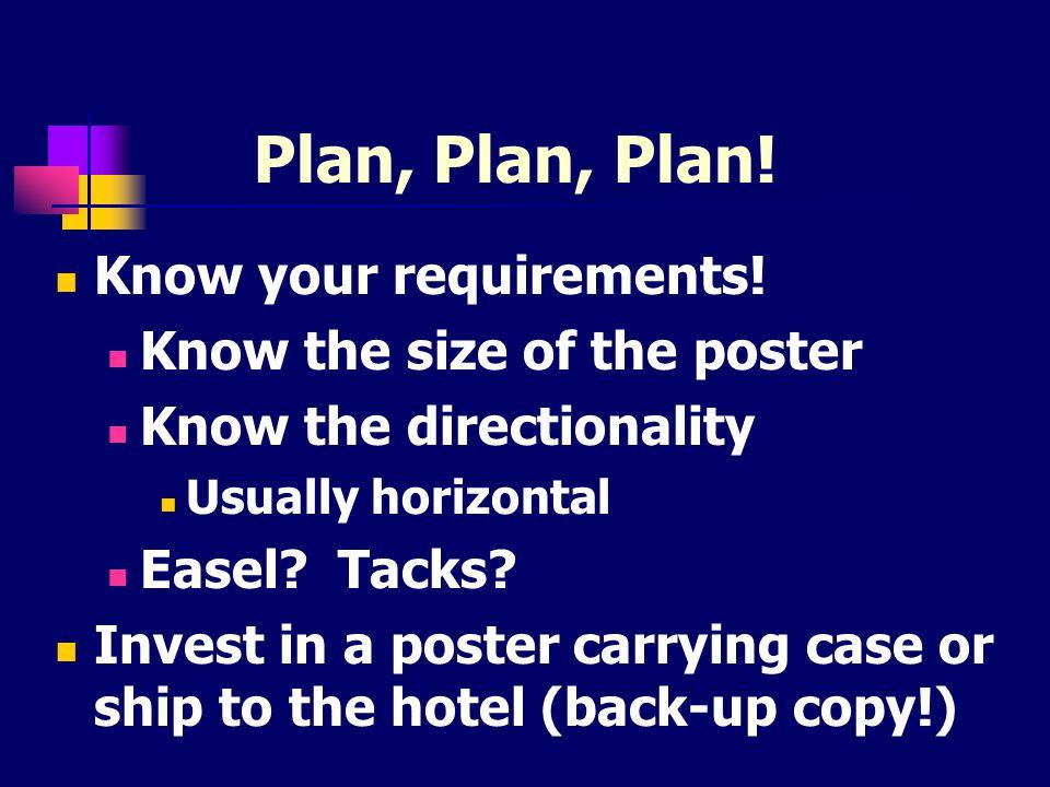 Plan, Plan, Plan.How much time will printing take.