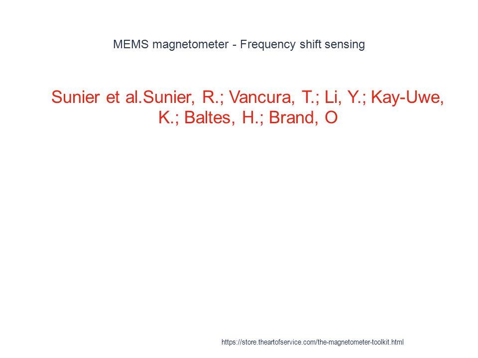 MEMS magnetometer - Frequency shift sensing 1 Sunier et al.Sunier, R.; Vancura, T.; Li, Y.; Kay-Uwe, K.; Baltes, H.; Brand, O https://store.theartofse