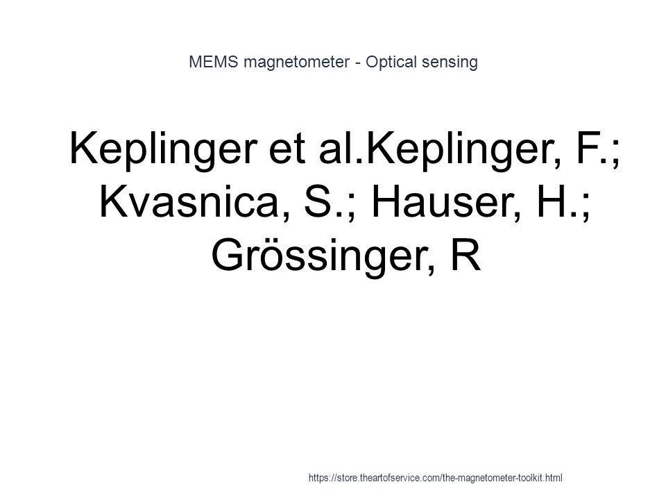 MEMS magnetometer - Optical sensing 1 Keplinger et al.Keplinger, F.; Kvasnica, S.; Hauser, H.; Grössinger, R https://store.theartofservice.com/the-mag