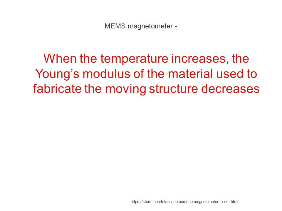 MEMS magnetometer - 1 When the temperature increases, the Young's modulus of the material used to fabricate the moving structure decreases https://sto