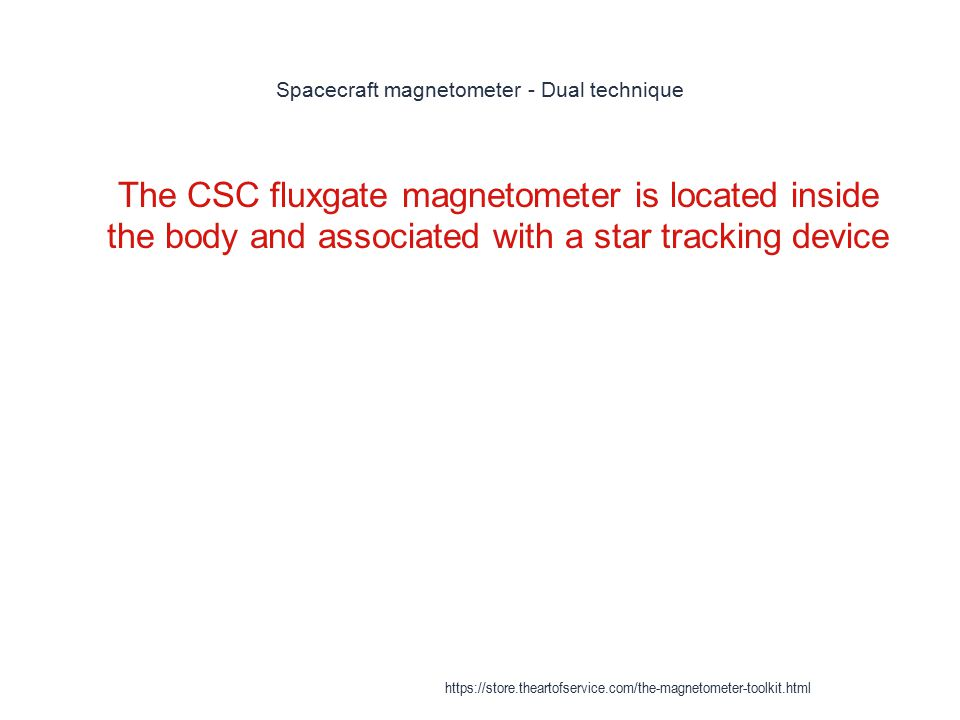 Spacecraft magnetometer - Dual technique 1 The CSC fluxgate magnetometer is located inside the body and associated with a star tracking device https:/