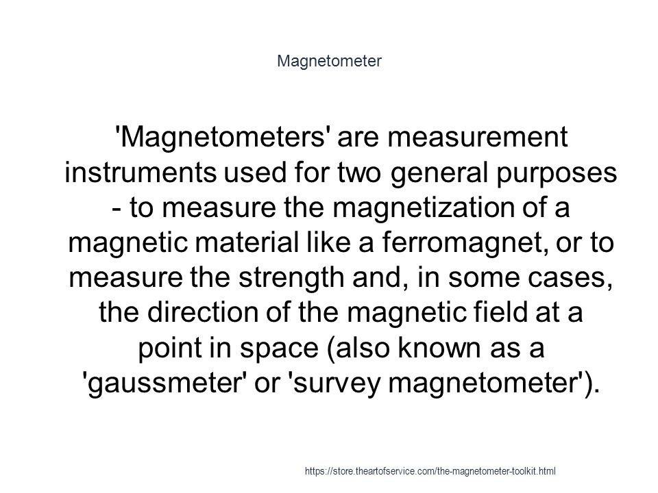 Magnetic immunoassay - Magnetometers 1 It was also described for in vivo applications Quantitative real-time in vivo detection of magnetic nanoparticles by their nonlinear magnetization, M.