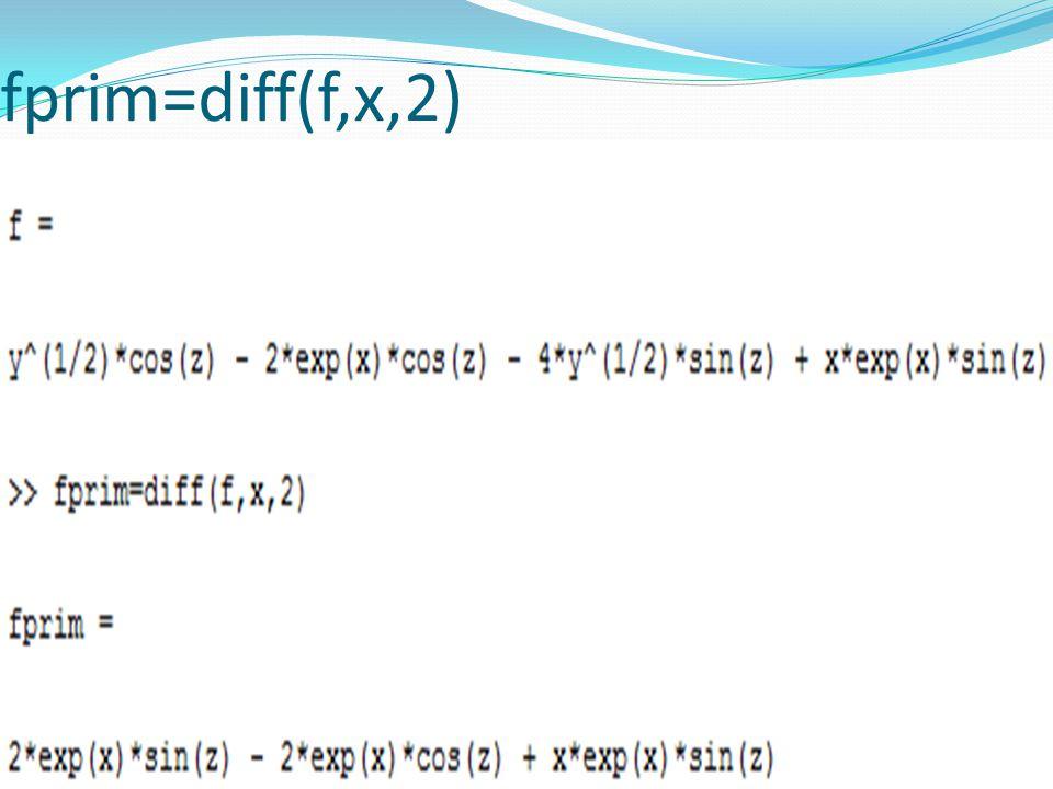 fprim=diff(f,x,2)