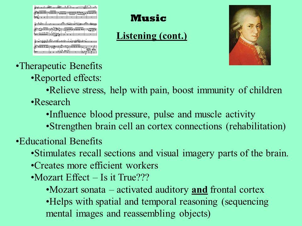 Music Creating Music Auditory Cortex, motor cortex, cerebellum and corpus callosum are larger in musicians.