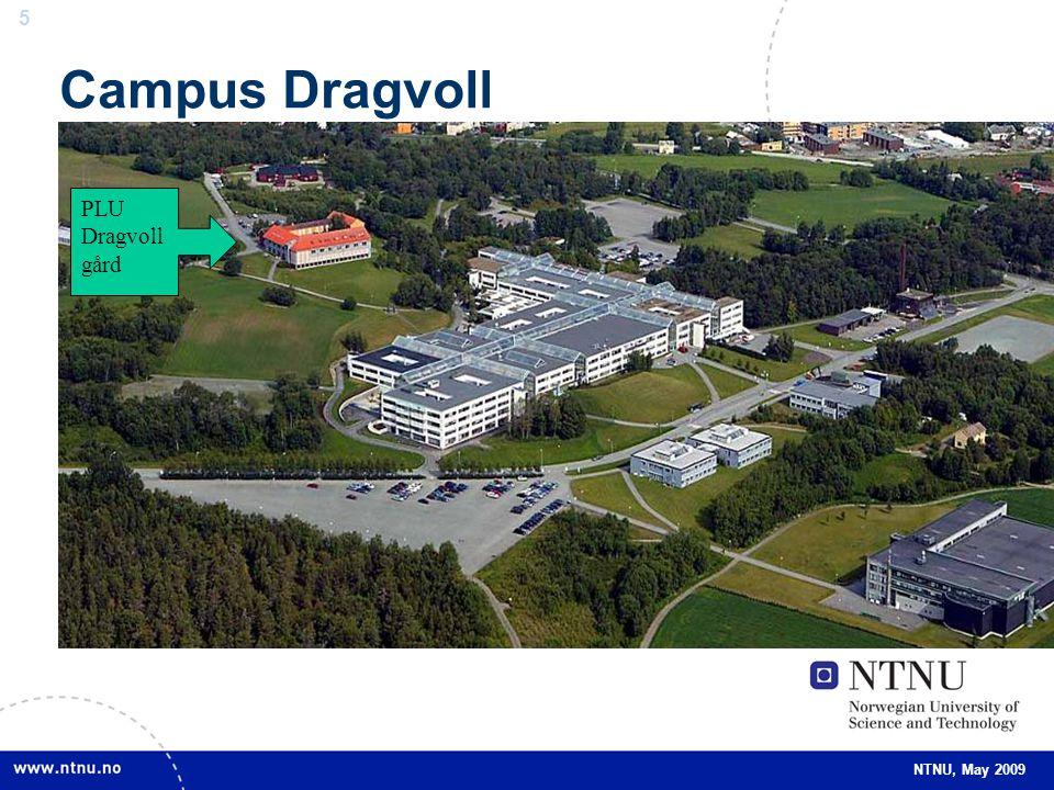 5 5 NTNU, May 2009 Campus Dragvoll PLU Dragvoll gård
