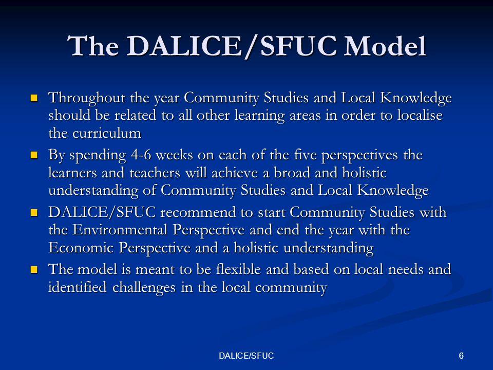 7DALICE/SFUC COMMUNITY STUDIES