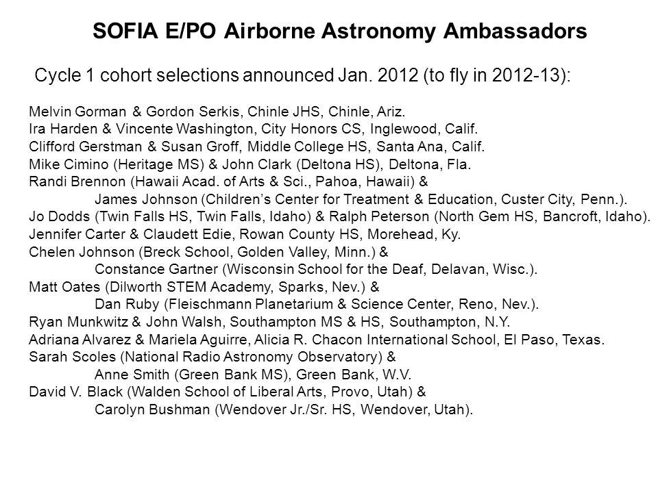 Airborne Astronomy Ambassadors – Cycle 1 cohort