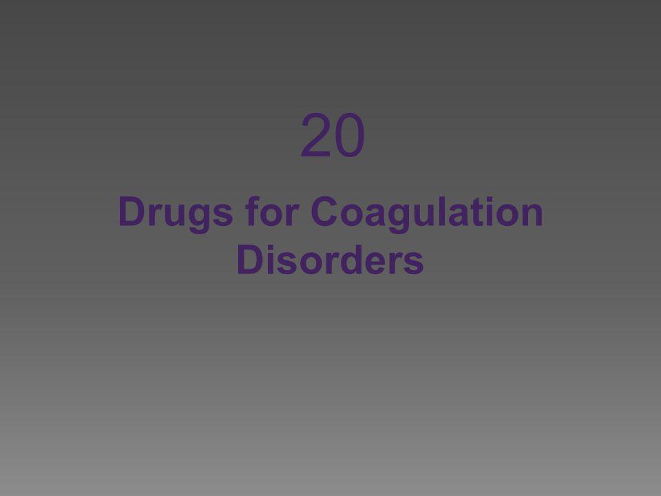 Drugs for Coagulation Disorders 20