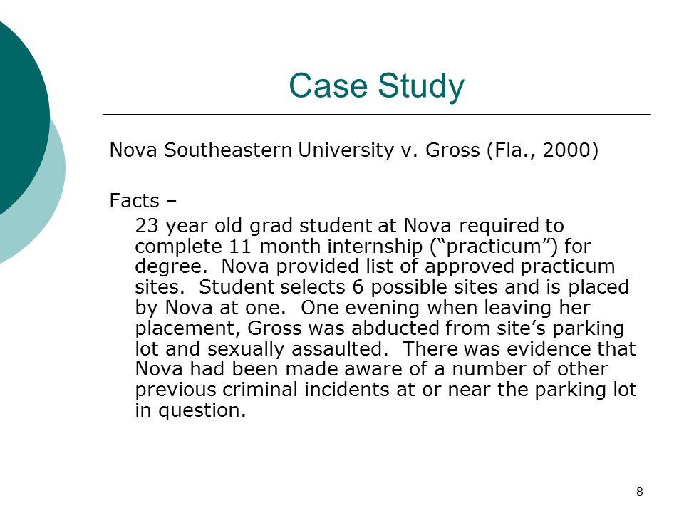 8 Case Study Nova Southeastern University v.
