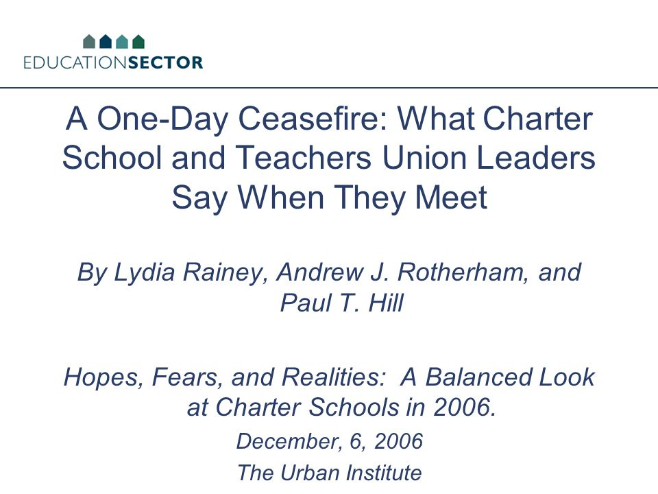 Background Charter landscape has shifted substantively in the past decade: 1.A lot more charters 2.More teachers' union – charter school overlap and even collaboration Charter landscape has shifted politically.