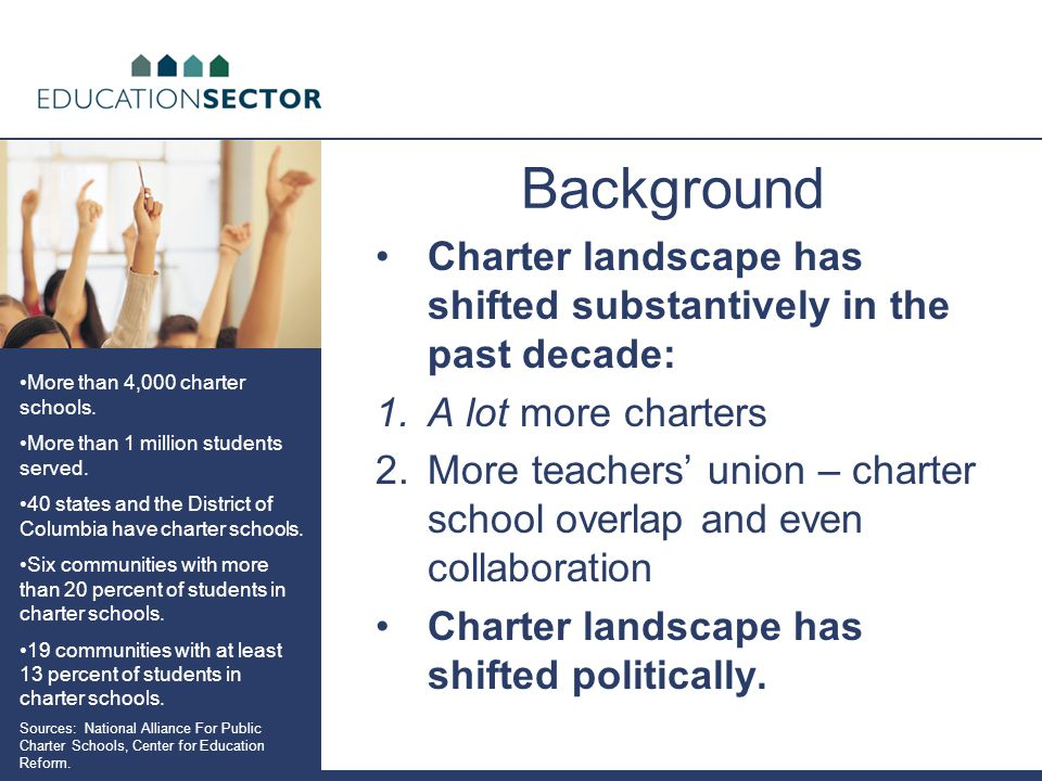What We Did Gathered key charter school leaders and influentials from the teachers' union community.