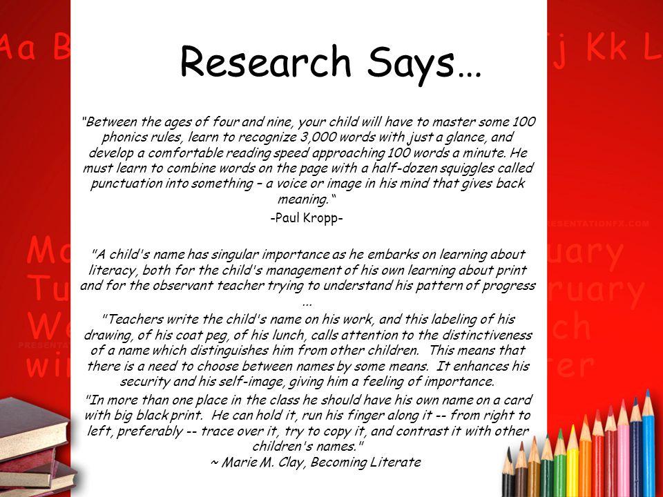 Research Cont'd… US Dept.