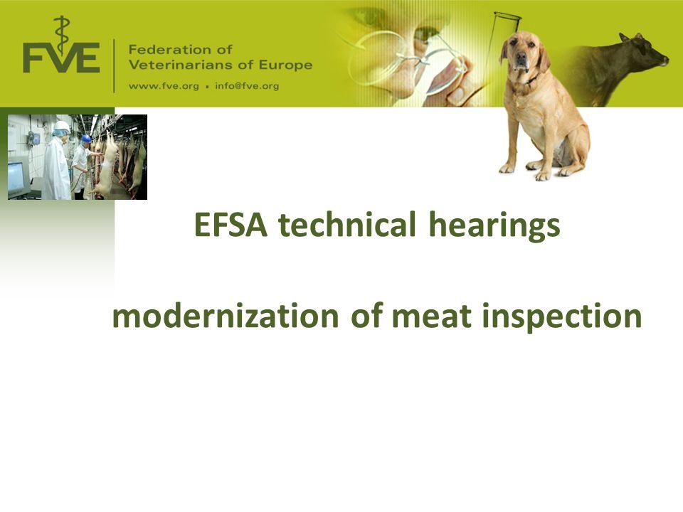 EFSA technical hearings modernization of meat inspection