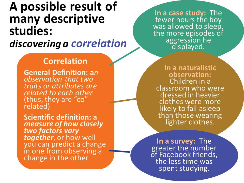 """Correlation General Definition: an observation that two traits or attributes are related to each other (thus, they are """"co""""- related) Scientific defin"""