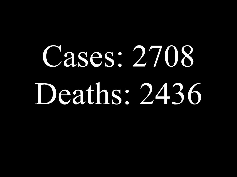 Cases: 2708 Deaths: 2436