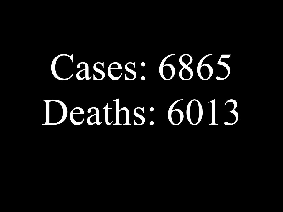 Cases: 6865 Deaths: 6013