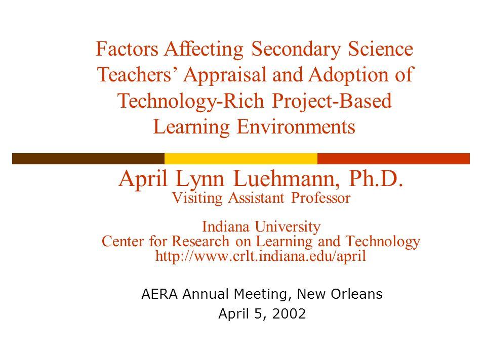 April Lynn Luehmann, Ph.D.