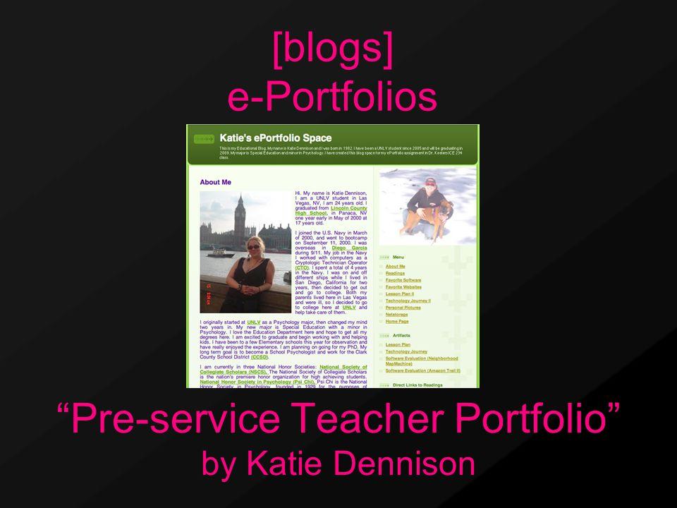 """Pre-service Teacher Portfolio"" by Katie Dennison [blogs] e-Portfolios"