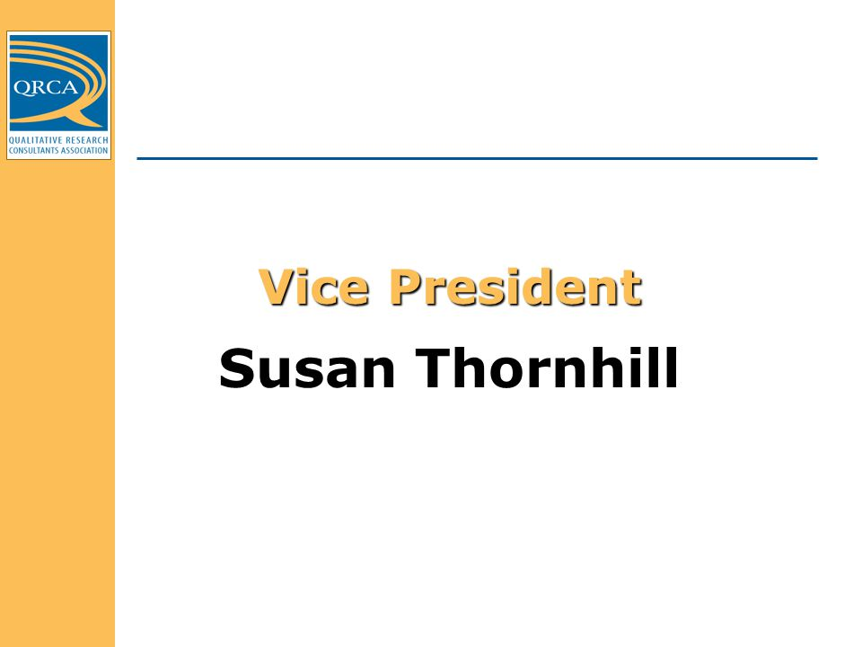 Vice President Susan Thornhill