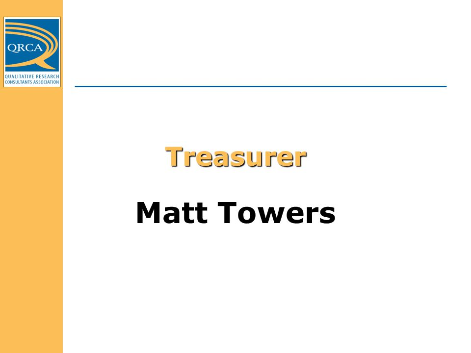 Treasurer Matt Towers