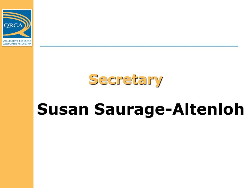Secretary Susan Saurage-Altenloh