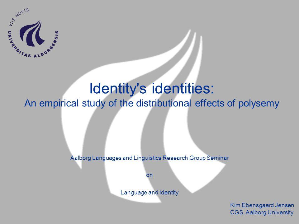Kim Ebensgaard Jensen CGS, Aalborg University Quantification of ID tags