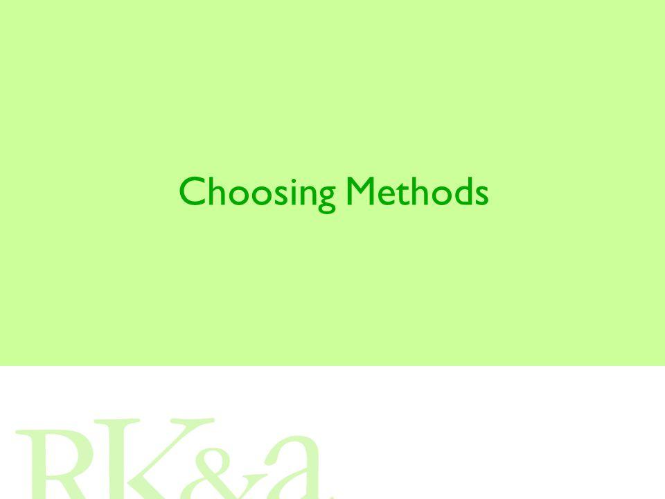 Choosing Methods