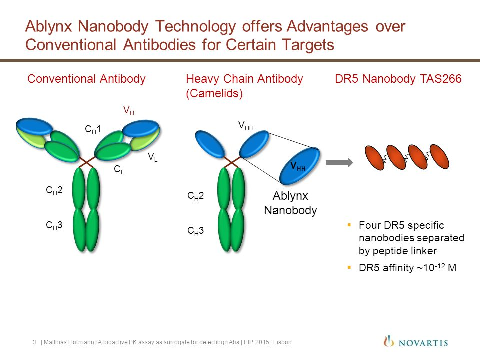 Cell-based free bioactive PK assay: Validation 14  MRD: 1:50  Working range 3 – 16.7 ng/mL  Dilution linearity 1:1000 | Matthias Hofmann | A bioactive PK assay as surrogate for detecting nAbs | EIP 2015 | Lisbon QCSPrecision (%)Accuracy (ng/mL)intra-runinter-runtotalBias (%) 1.514192411 37610-5 6647-11 10536-7 16.73450 working range