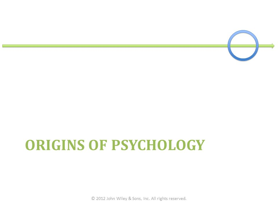 ORIGINS OF PSYCHOLOGY © 2012 John Wiley & Sons, Inc. All rights reserved.