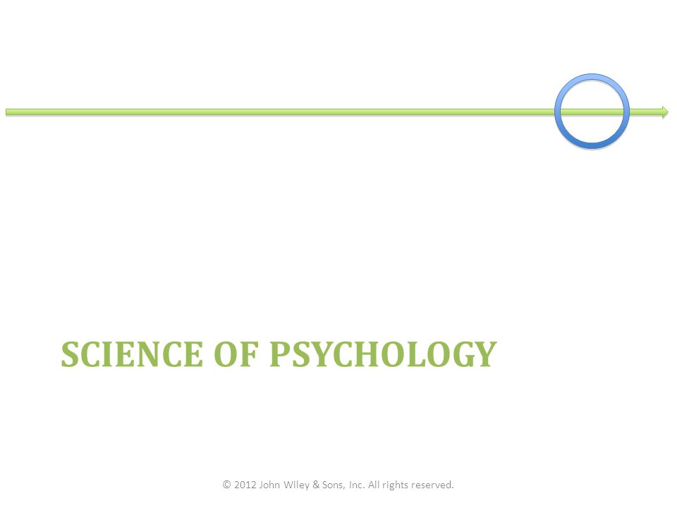 SCIENCE OF PSYCHOLOGY © 2012 John Wiley & Sons, Inc. All rights reserved.