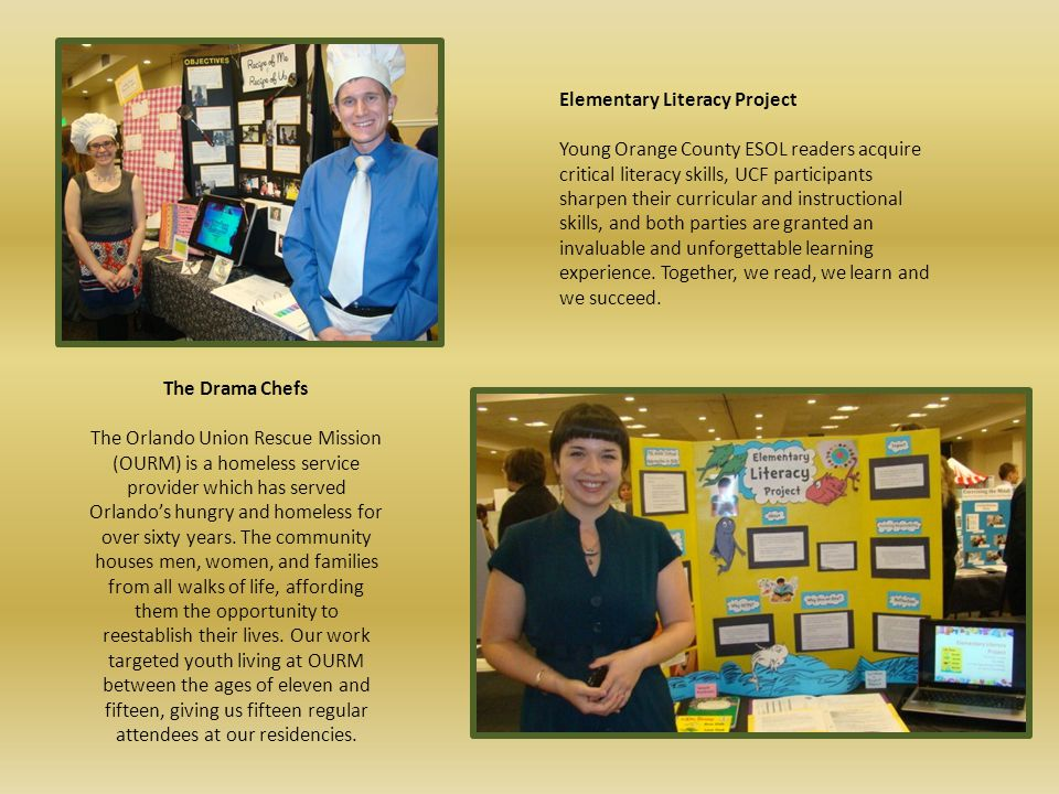 Many thanks to all who have participated in Service-Learning Student Showcases at UCF.